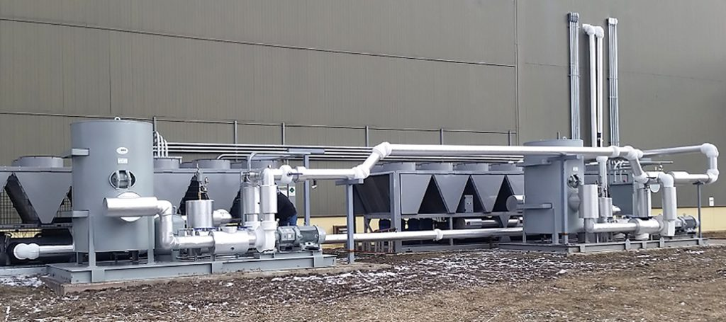 Process cooling system, outdoor coolers, dry coolers, cooling towers, heat exchangers, heat transfer system, tanks, pump systems.